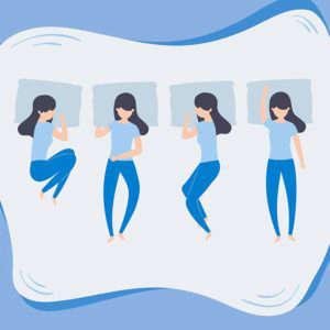 Fases del sueño, ¿qué sucede en cada una?: posturas dormir heelespana 300x300 - HeelEspaña
